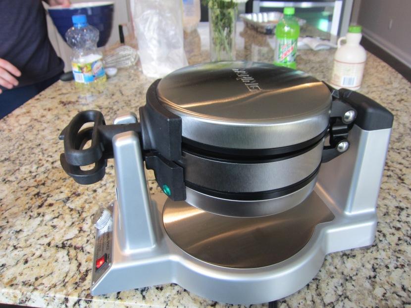 Waring Pro Waffle Iron on its maiden voyage