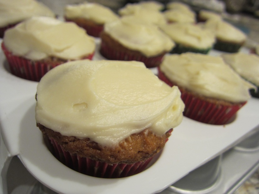 The Commissary's Carrot Cake in Cupcake form